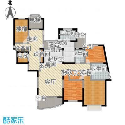 国际丽都城一期二期151.00㎡房型: 三房; 面积段: 151 -173 平方米; 户型