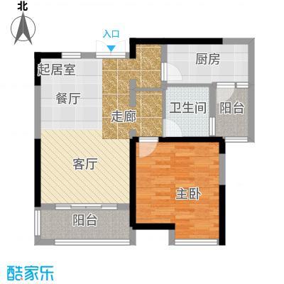 嘉宝紫提湾B2C2户型1室1卫1厨