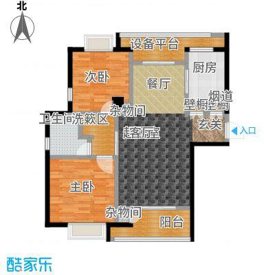 绿地百年宅G1户型2室1卫1厨