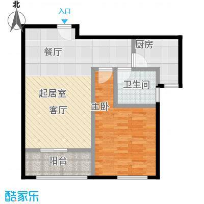 恒盛鼎城华公馆G2户型1室1卫1厨