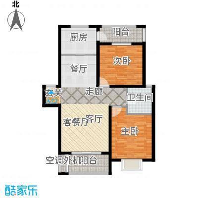 锦华茗园房型户型2室1厅1卫1厨