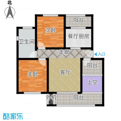 保利海上五月花80.00㎡二房一厅一卫-88平方米-嘉定房管(2009)预字000417户型
