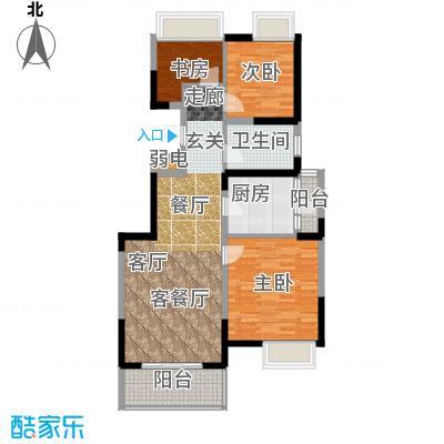 江桥万达广场公寓23-1号户型3室1厅1卫1厨