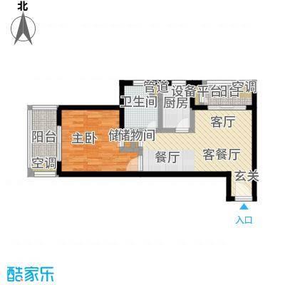 中远两湾城三期55.58㎡房型: 一房; 面积段: 55.58 -65.87 平方米; 户型