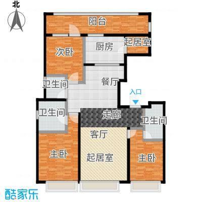 上海星光域洋房I户型3室3卫1厨