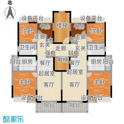 江桥万达广场NO公寓13号户型6室2卫2厨