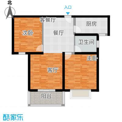 嘉乐东润舒庭6#202户型2室1厅1卫1厨