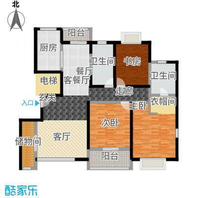 嘉乐东润舒庭2#201户型3室1厅2卫1厨