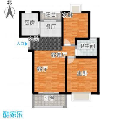 嘉乐东润舒庭6#户型2室1厅1卫1厨