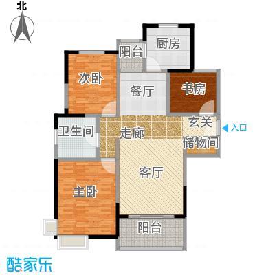 金鼎香樟苑C2户型3室1卫1厨
