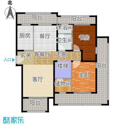 保利星海屿C3下层户型2室1厅1卫1厨
