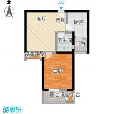 中环花苑一期60.00㎡房型: 一房; 面积段: 60 -70 平方米; 户型
