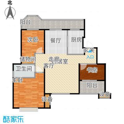 花田洋房E户型3室1卫1厨