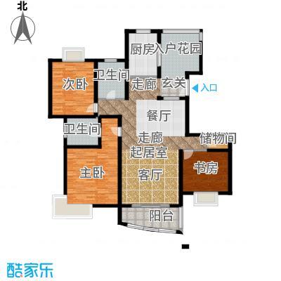 翠堤尚郡B1户型3室2卫1厨