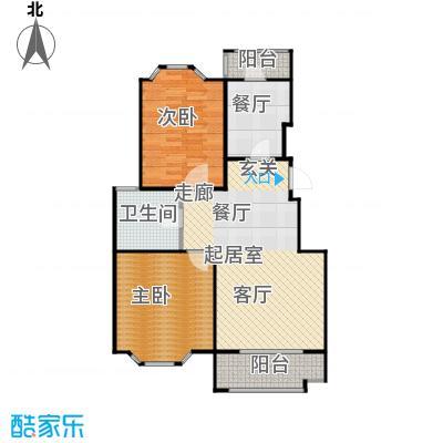 花田洋房A1户型2室1厅1卫