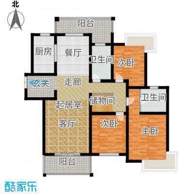路劲翡丽湾F户型3室2卫1厨