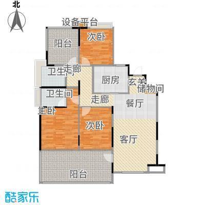中建溪岸澜庭C3户型3室2卫1厨