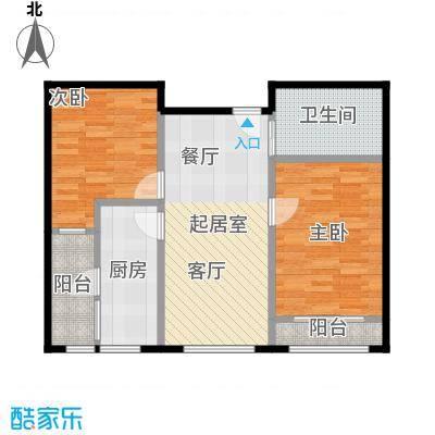 龙湖蔚澜香醍型图X1户型2室1卫1厨