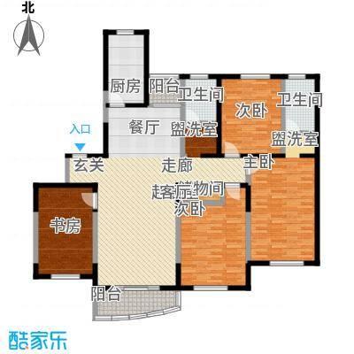 莲蒲府邸二期154.00㎡房型: 四房; 面积段: 154 -161 平方米; 户型