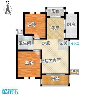 名仕世家花苑二期87.84㎡房型: 二房; 面积段: 87.84 -97.7 平方米; 户型