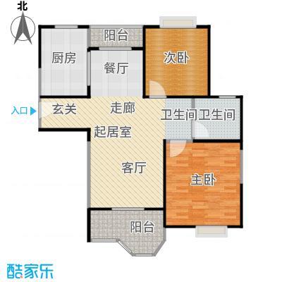 合生城邦E1型户型2室1卫1厨