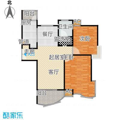 金沙丽晶苑一期93.00㎡房型: 二房; 面积段: 93 -105 平方米;户型
