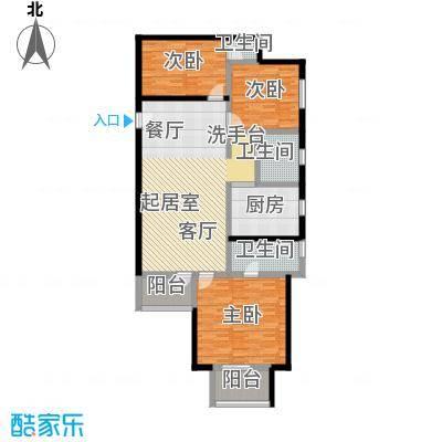 三宝花苑130.90㎡房型: 三房; 面积段: 130.9 -130.9 平方米; 户型