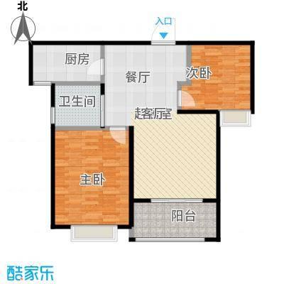 中星馨恒苑H2户型2室1卫1厨