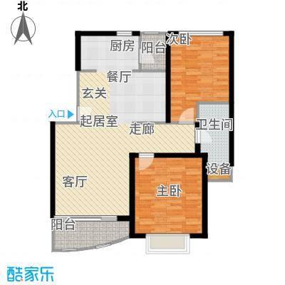 龙馨嘉园一期89.62㎡房型: 二房; 面积段: 89.62 -107 平方米; 户型