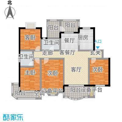住友嘉馨名园152.00㎡房型: 四房; 面积段: 152 -152 平方米; 户型