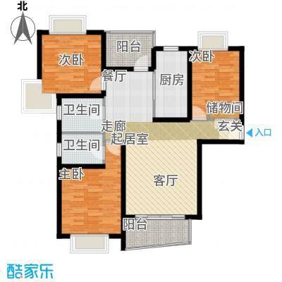 新梅共和城二期115.40㎡房型: 三房; 面积段: 115.4 -124.48 平方米;户型