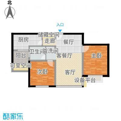 申地公寓二期86.00㎡房型: 二房; 面积段: 86 -100 平方米; 户型