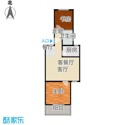 虹北公寓房型户型2室1厅1卫1厨