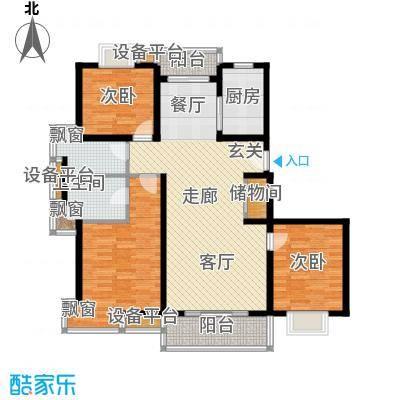 荣振馨苑房型: 三房; 面积段: 120 -130 平方米; 户型