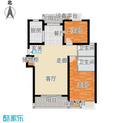 荣振馨苑100.00㎡房型: 二房; 面积段: 100 -110 平方米; 户型