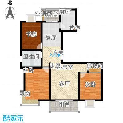 中虹花园锦秀文华126.00㎡房型: 三房; 面积段: 126 -126 平方米; 户型
