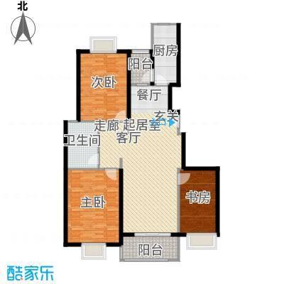 申润江涛苑110.00㎡房型: 三房; 面积段: 110 -120 平方米;户型