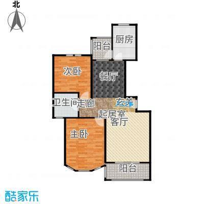 新江湾城雍景苑一期面积10214-10632户型2室1卫1厨