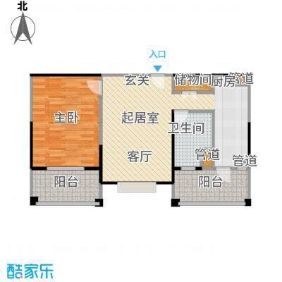 新江湾城建德国际公寓60.00㎡房型: 一房; 面积段: 60 -70 平方米; 户型
