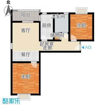 好世鹿鸣苑80.00㎡二房二厅一卫-80-90平米-17套户型