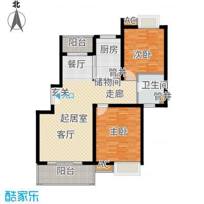 万源城御溪100.00㎡房型: 二房; 面积段: 100 -110 平方米;户型