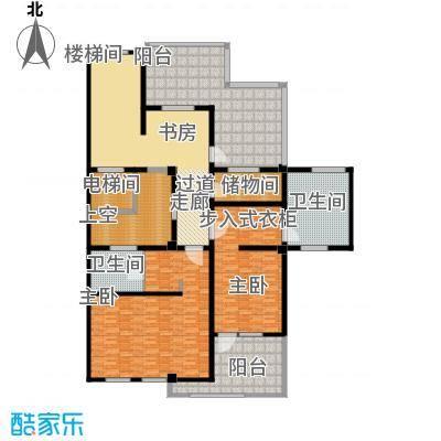 鹏欣一品漫城三期A`二层户型2室2卫