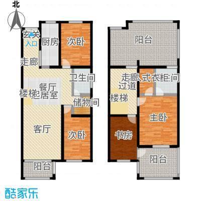 新时代景庭房型复式户型4室2卫1厨