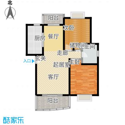西郊河畔家园90.65㎡房型: 二房; 面积段: 90.65 -93.57 平方米;户型