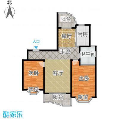锦澳家园105.83㎡房型: 二房; 面积段: 105.83 -114.12 平方米; 户型