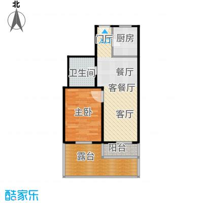 香港花园房型户型1室1厅1卫1厨