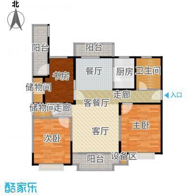 金铭福邸四期95.00㎡房型: 二房; 面积段: 95 -116 平方米;户型