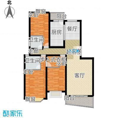 阳光加州130.94㎡房型: 三房; 面积段: 130.94 -132.39 平方米; 户型