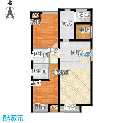 蓝海嘉苑住宅标准层A1户型