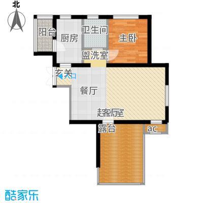 蓝海嘉苑住宅标准层D3户型